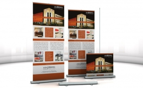 ARA Hotel Comfort, Roll-Up Display, 85 x 225 cm